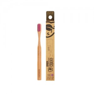 Cepillo dental Bambu Kids Suave - Color Morado Biobrush