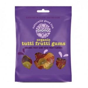 Gums organic tutti frutti 75 gramos Marca Biona