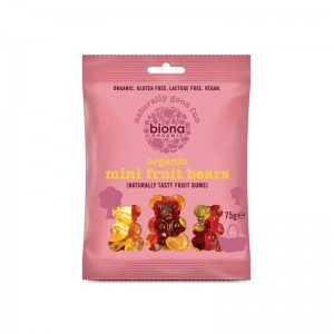 Gums organic mini fruit bears 75 gramos Marca Biona