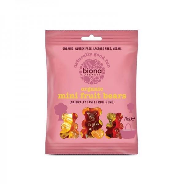 Gums organic mini fruit bears 75 gramos Marca Biona