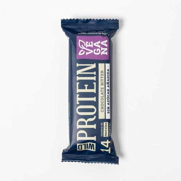 Barra de Proteina Vegana de Chocolate Bitter.45 grs. Marca Wild Protein