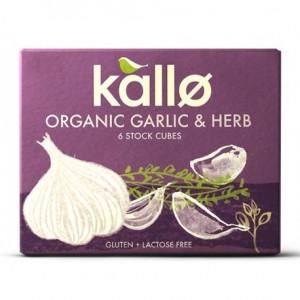 Caldo en cubitos de hierbas y ajo 66 gramos 6 unidades Marca Kallo