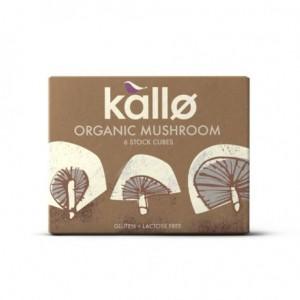 Caldo en cubitos de hongos organicos 66 gramos 6 unidades Marca Kallo