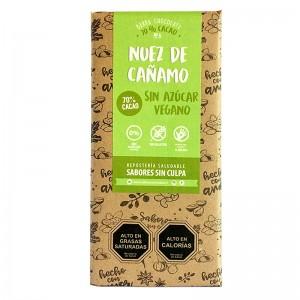 Chocolate de Nuez de Cañamo 80grs. Sabores sin Culpa