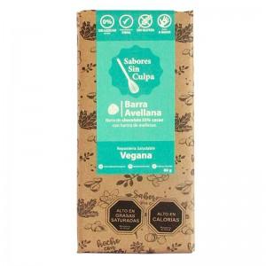 Chocolate Barra Avellana 0% Azucar 55%Cacao