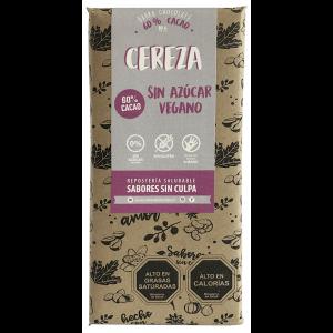 Chocolate de Cereza 60% cacao 80 grs. Sabores sin Culpa