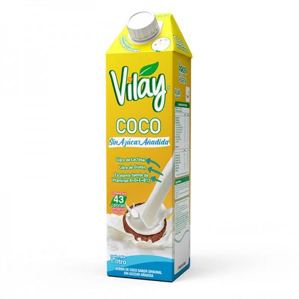 Bebida de Coco Sin Azúcar 1 litro.Vilay
