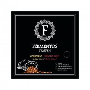 Tempeh Garbanzo- Poroto Rojo 200 grs. Fermentos