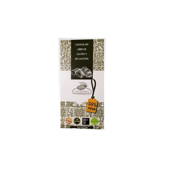 Chocolate libre de gluten y sin leche 55% cacao