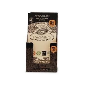 Chocolate Orgánico libre de gluten y sin leche 70% Cacao