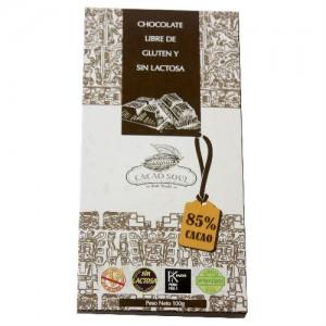 Chocolate Orgánico libre de gluten y sin leche 85% Cacao