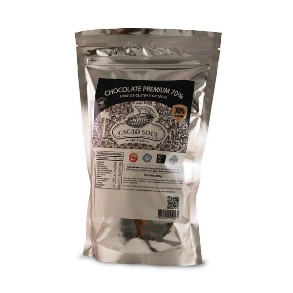 Medallones Chocolate Premium 70% Cacao Soul
